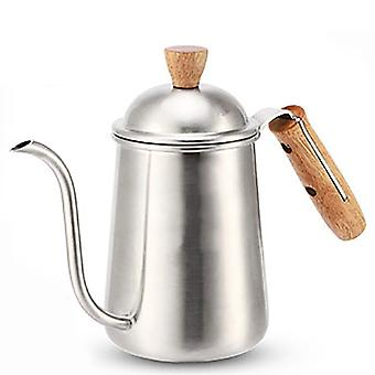 Stainless Steel Wooden Handle Coffee Pot