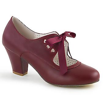 Pin Women's Shoes Up Burgundy Faux Leather