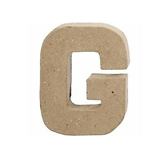 VIIMEISET MUUTAMAT - 10cm pieni paperi mache kirjain G | Papier Mache -muodot