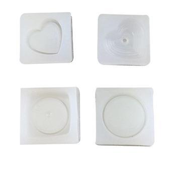 Love box shape gypsum mold - Round box shape cake decoration mold - 4sets