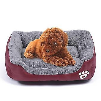 Candy Color Four Seasons Genuine Warm Pet Dog Kennel Mat Teddy Hundematte, Größe: XXL, 95×72×18cm (Wein