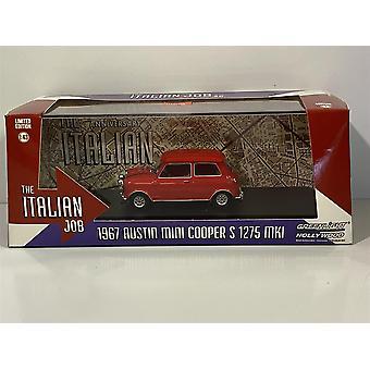 El trabajo italiano 1967 Austin Mini Cooper S 1275 Rojo 1:43 Luz verde 86550