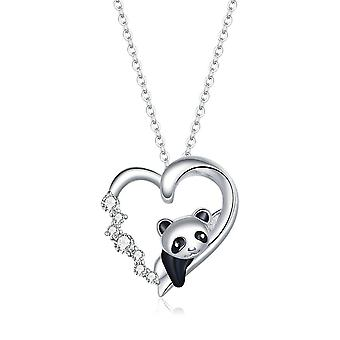 Baby Panda Necklace Silver plating Cute Animal Charm Chain Link for Women Gift Jewelry