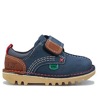 Boy's Kickers Infant Kick Lo Stroll Zapatos en azul