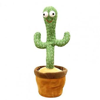 Cactus Funny Doll Auto-moving Lovely Cartoon Stuffed Cactus Dancing Toy For Home Decor Desktop Ornaments Kids Toys Gifts
