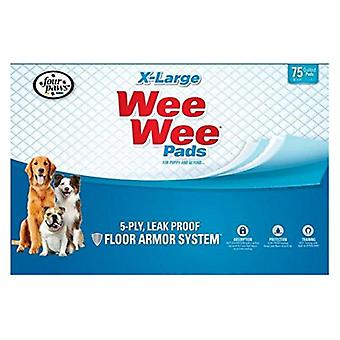 """Four Paws X-Large Wee Wee Pads - 75 Pack (28"""" Long x 30"""" Wide)"""