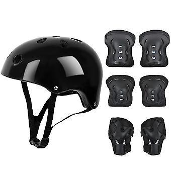 7 PCS kinderen beschermende uitrusting set rolschaats helm elleboog knie pad voor skateboard fietsen