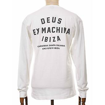 Deus Ex Machina Ibiza Address Long Sleeve Tee - White