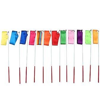Colorful Rhythmic Gymnastics Ribbon Dancing Gymnastics