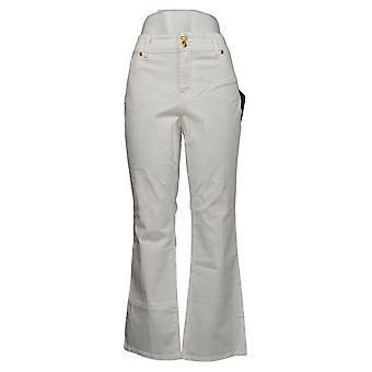 Global Chic By Iman Women's Petite Pants Slim Bootcut White 685831