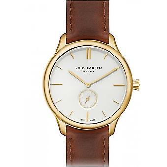 LLarsen (Lars Larsen Brown Genuine Leather) 122GBBL Men's Watch