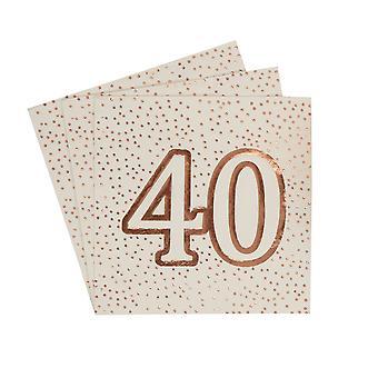 יום הולדת זהב ורוד - מפיות - גיל 40