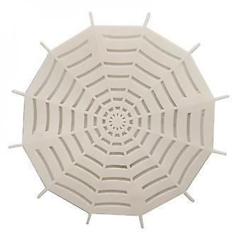 5pcs Creative Spider Web Drain Rubber Circle Silicone Plug Douche Baignoire Salle de bain étanche
