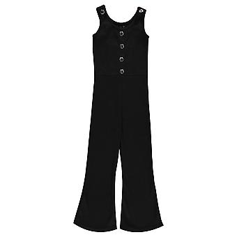 Firetrap Girls Ribbed Sleeveless Jumpsuit Flared Bottoms Trouser Summer