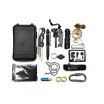 Survival Gear Kit, Emergency  Survival Tools Sos Earthquake Aid Equipment
