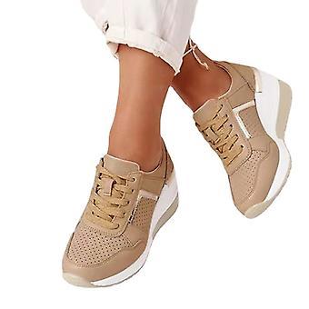 kvinners uformelle sko snøre sneakers pustende tennissko basketball sko