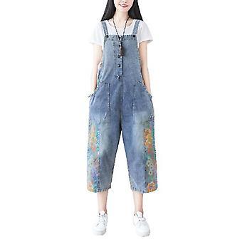Woman Stitching Wide-leg Pants Plus Size Overalls