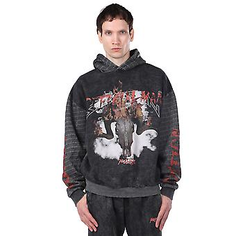 Hette fleece trykt menns genser