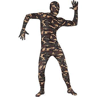 Anden hud kostume Stretchanzug militær camouflage
