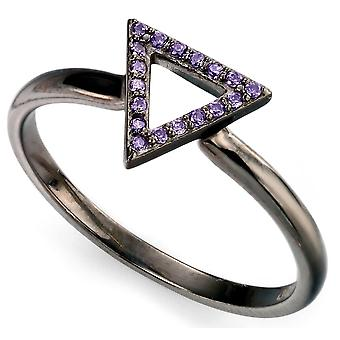 925 Silver Plated Cobalt And Zirconium Fashion Ring