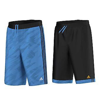 ADIDAS reversible GFX basketball shorts [black/blue]
