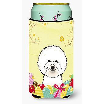 Bichon Frise Easter Egg Hunt Tall Boy drank isolator Hugger