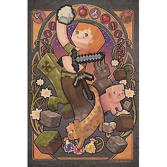 Minecraft Sword Poster Poster Print