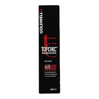 Goldwell Topchic Cool Reds 4R Permanent Hair Color 60ml