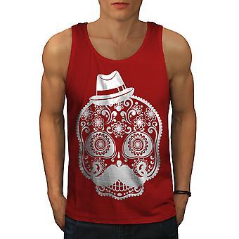 Skelet Cool mannen RedTank Top | Wellcoda