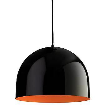 Firstlight House hänge Finsished i svart med Orange inre skugga