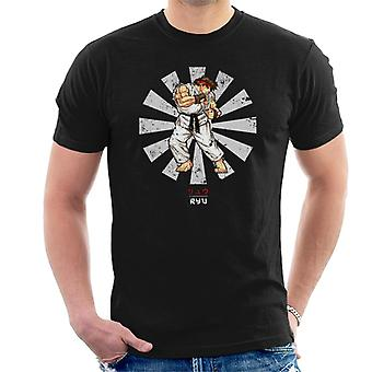 Ryu Street Fighter Retro Japanse mannen T-Shirt