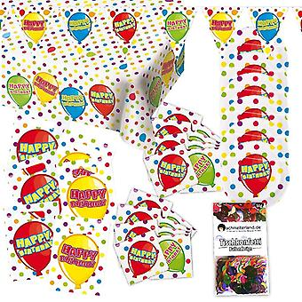 Happy birthday party package 31-teilig decorative birthday children's Party