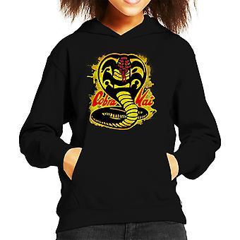 Cobra Kai maali roiskia Logo Lasten huppari