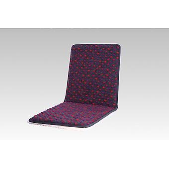 Dobbel stol puter sete pute med rygg antrasitt farget 80 x 37 cm ull