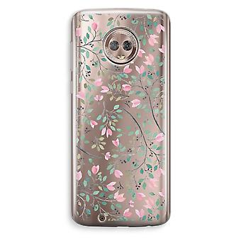 Motorola Moto G6 transparant Case (Soft) - Dainty bloemen