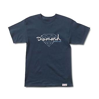 Diamond Supply Co Brilliant Script T-shirt Navy
