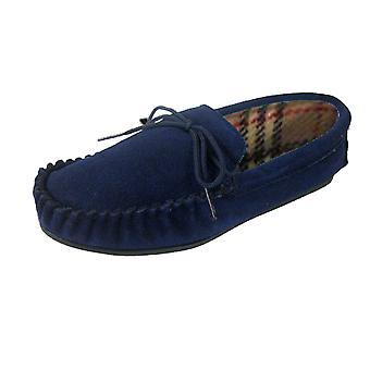 Lodgemok Womens echte Suede traditionele Mocassin pantoffels
