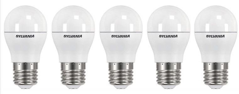5 x Sylvania ToLEDo Ball Dimmable E27 V3 5.6W Daylight LED 470lm [Energy Class A+]