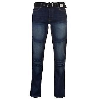 Firetrap Mens Portlnd Jean taps toelopende Jeans broek broek bodems