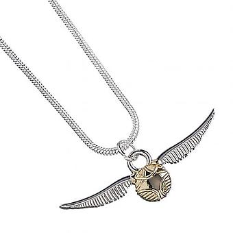 Harry Potter plateado collar Snitch dorada