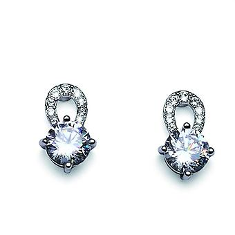 Oliver Weber Post Earring Gleam Rhodium Crystal