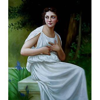 Egy lány, olajfestmény vásznon, 50x60 cm
