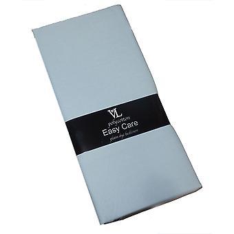 Victoria London Single Duvet Cover Plain hemelsblauw Easycare Polycotton