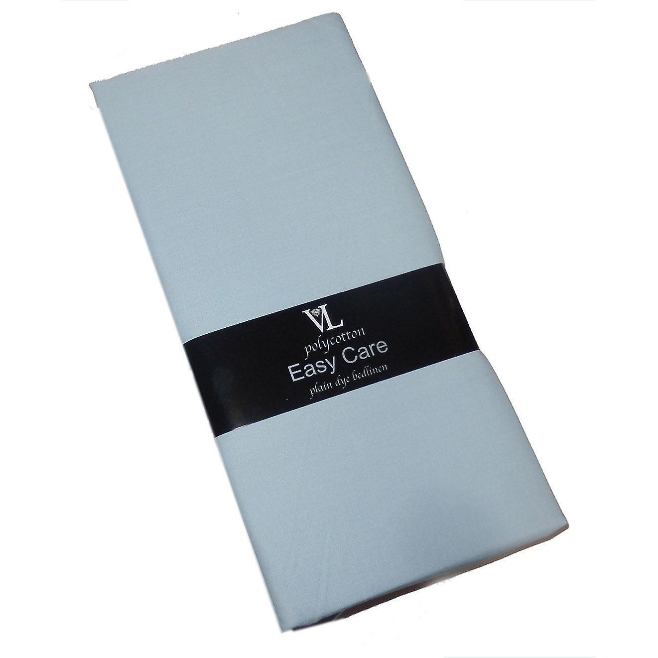 Victoria London Single Duvet Cover Plain Sky Blue  Easycare Polycotton