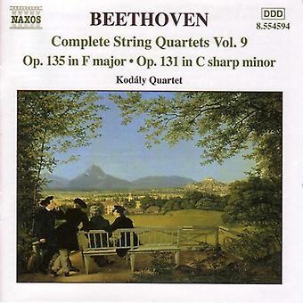 L.V. Beethoven - Beethoven: Complete String Quartets, Vol. 9 [CD] USA import