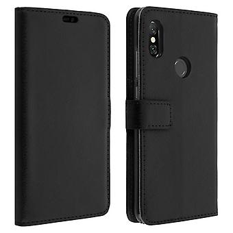 Flip wallet case, slim cover for Xiaomi Redmi Note 6 Pro, silicone shell - Black