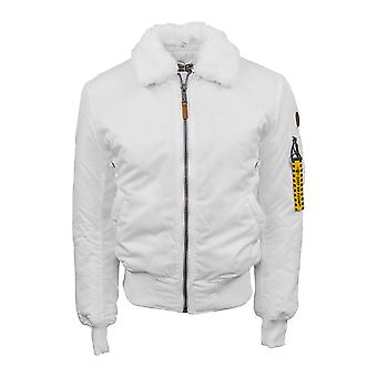 Top Gun B-15 Men's Heavy Duty Vintage Flight Bomber Jacket White