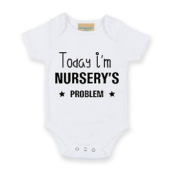 Today I'm Nursery's Problem White Short Sleeve Baby Grow