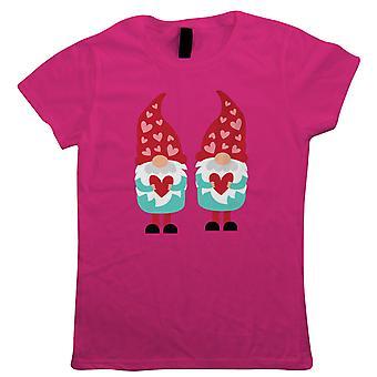 Gnome Valentijn hart, Womens T Shirt