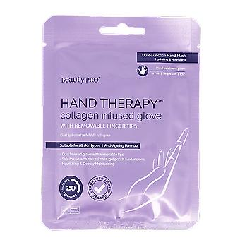 Beauty Pro Hand Therapy Collagen Infused Glove with Removable Finger Tips 23g